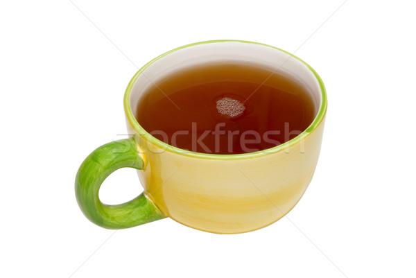 çay fincanı çay yalıtılmış beyaz sağlık arka plan Stok fotoğraf © vapi