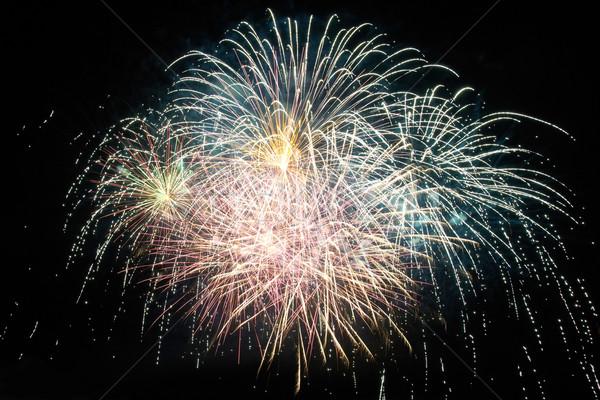 Coloré vacances feux d'artifice rouge pourpre noir Photo stock © vapi