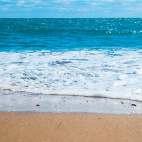 Blau Meer Strand golden Sand Sommerurlaub Stock foto © vapi