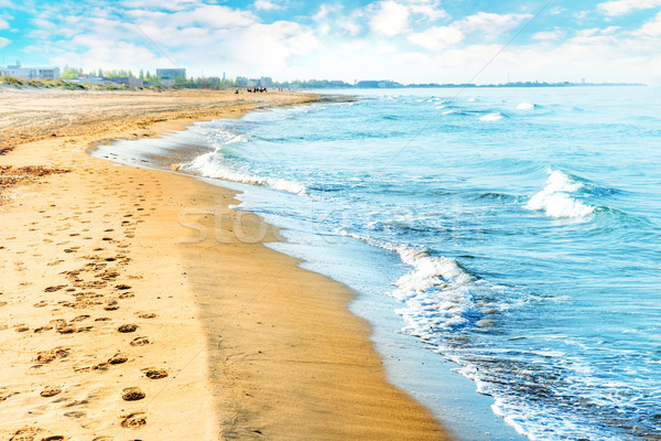 Uzun tropikal sörf deniz dalgalar Stok fotoğraf © vapi