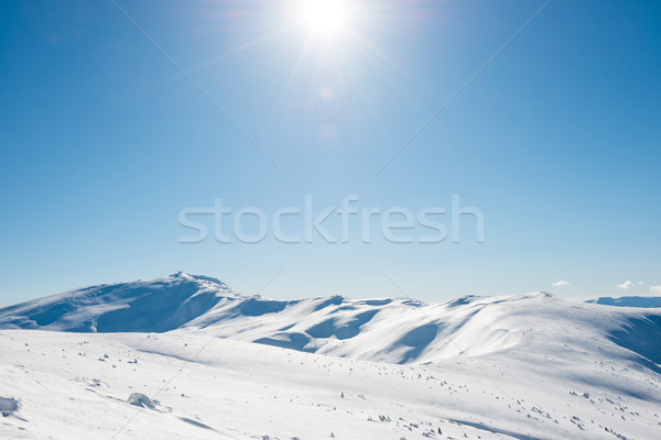 Fehér tél hegyek hó fényes ragyogó Stock fotó © vapi