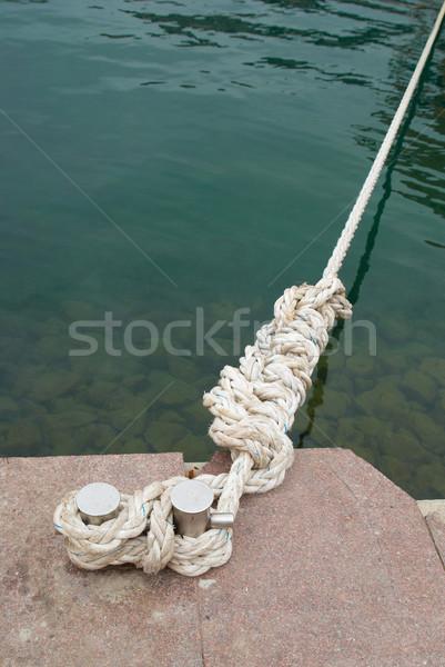 Mooring and knight with rope Stock photo © vapi