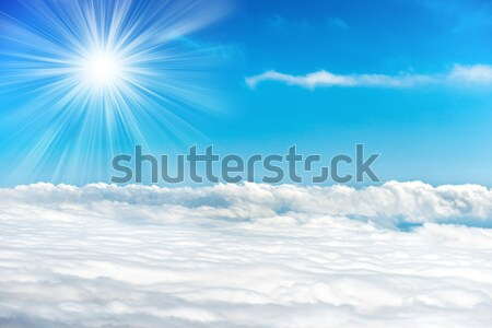 Bright sun on the blue sky Stock photo © vapi