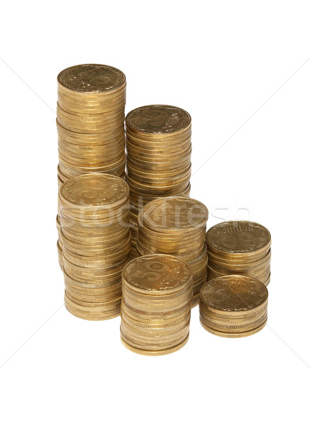 Colonna monete isolato bianco business Foto d'archivio © vapi