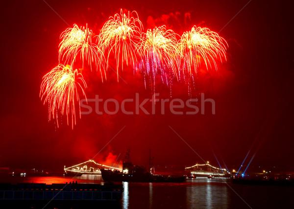 Acima céu festa fundo navio diversão Foto stock © vapi