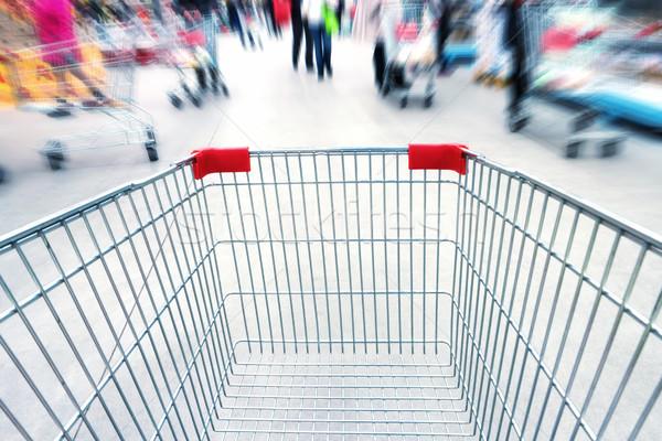 Empty trolley in supermarket Stock photo © vapi