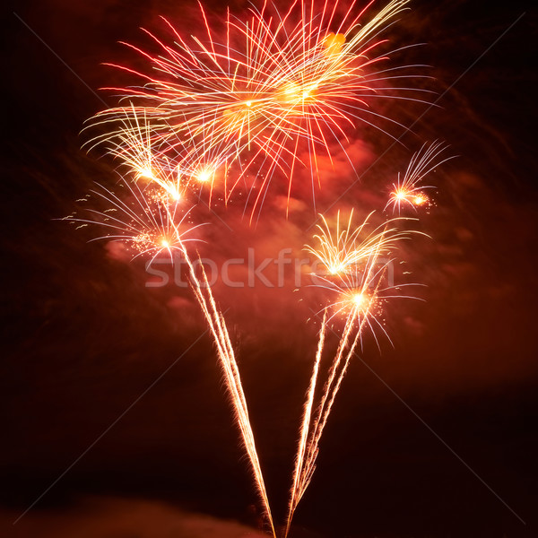 Red colorful fireworks Stock photo © vapi