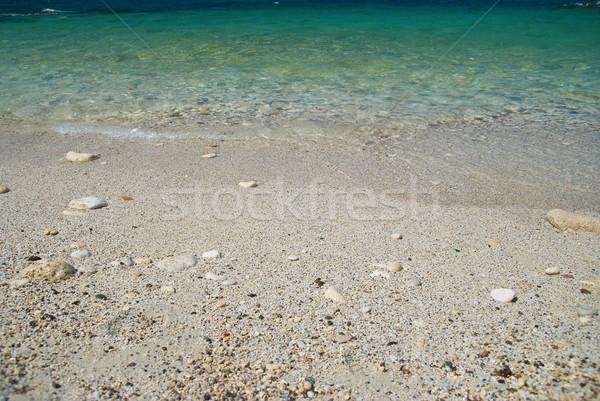 Deniz kum plaj tropikal dalgalar taşlar Stok fotoğraf © vapi