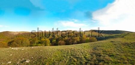 Panorama. Hills with cloudscape Stock photo © vapi