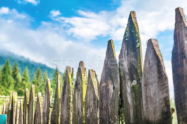 Old country fence Stock photo © vapi