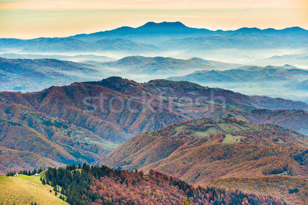 Beautiful blue mountains and hills Stock photo © vapi