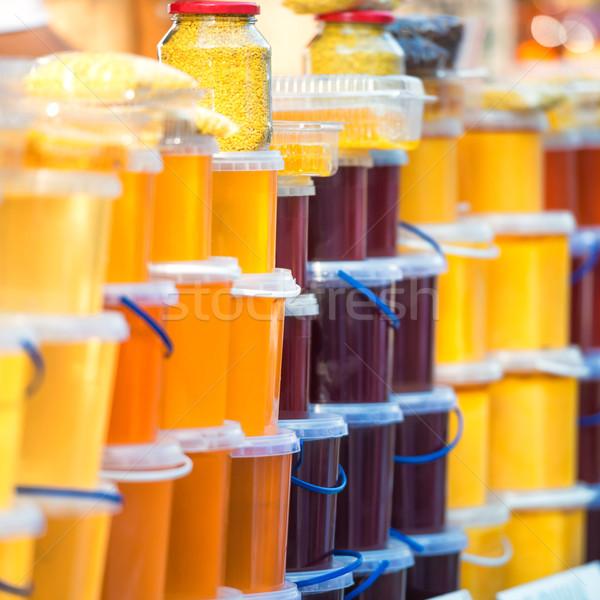 Molti miele farm mercato alimentare natura Foto d'archivio © vapi