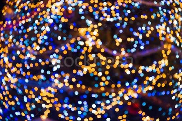 Beaucoup coloré flou Noël lumières peuvent Photo stock © vapi
