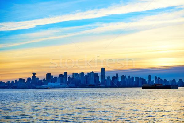 Pôr do sol acima Vancouver Canadá noite cidade Foto stock © vapi