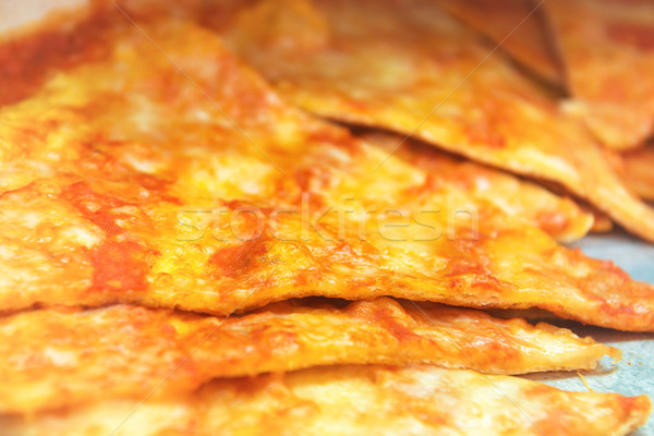 Stock photo: Pizza slices on the plate