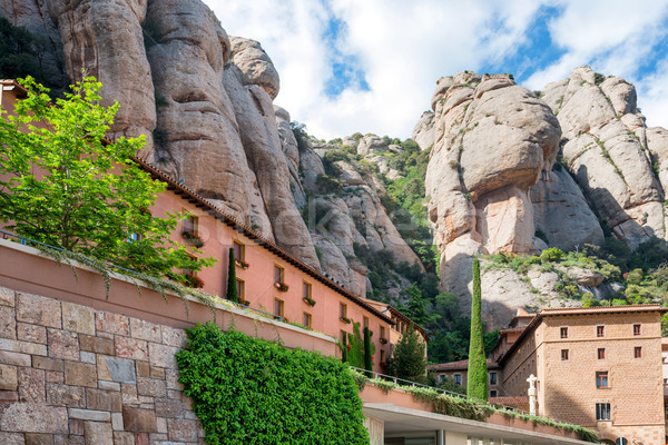 Kolostor Barcelona Spanyolország mikulás apátság hegy Stock fotó © vapi