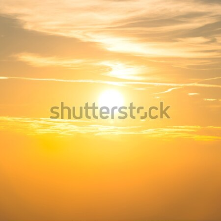 Sunset in the sky with orange clouds Stock photo © vapi