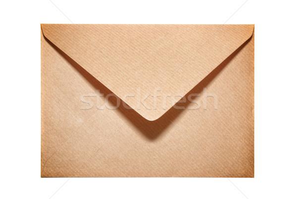 Half open old yellow paper envelope Stock photo © vapi