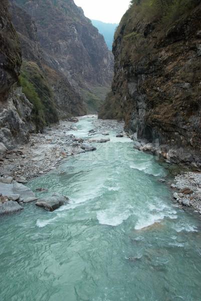 Marsyangdi river and Annapurna mountains. Stock photo © vapi