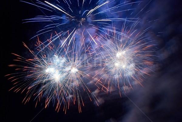 Stock photo: Fireworks, salute.