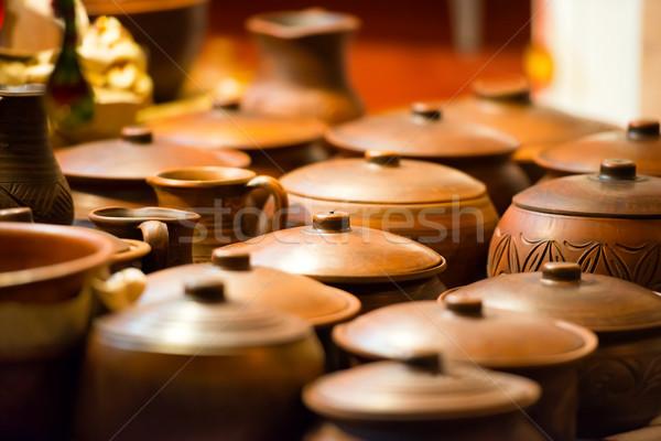 керамической глина искусства продовольствие дизайна рынке Сток-фото © vapi