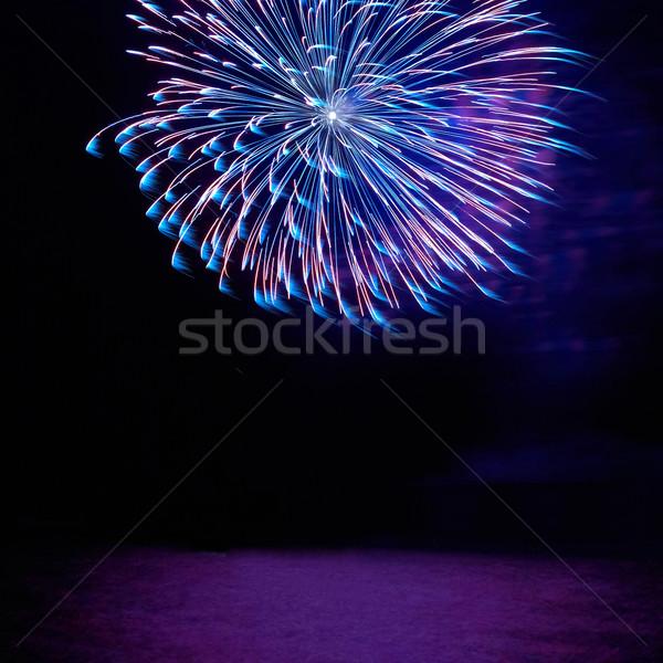 Colorido férias fogos de artifício azul vermelho preto Foto stock © vapi