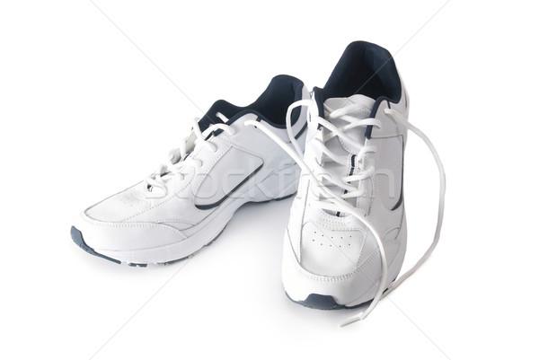 Paar trainers witte geïsoleerd mode achtergrond Stockfoto © vapi