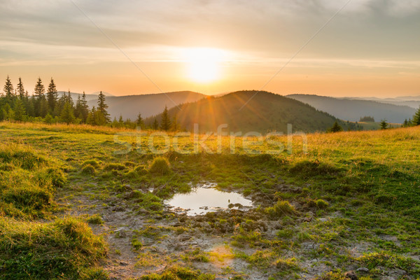 Sunset in the mountains Stock photo © vapi