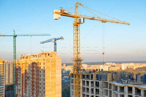 Endüstriyel Bina inşaat güneş çalışmak Stok fotoğraf © vapi