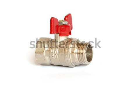 Stopcock ball valve on white background. Stock photo © vapi