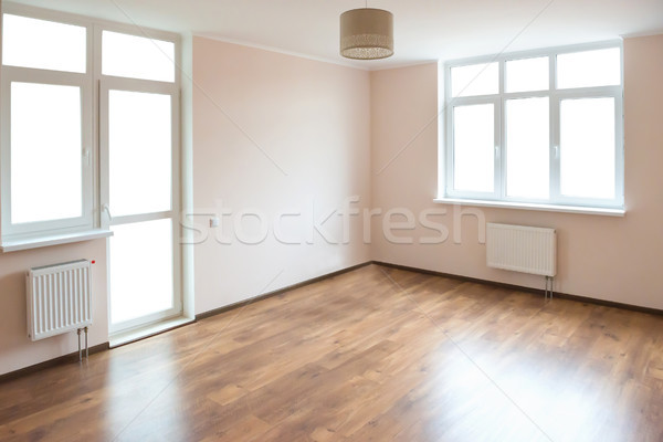 Stock photo: Empty room with white windows