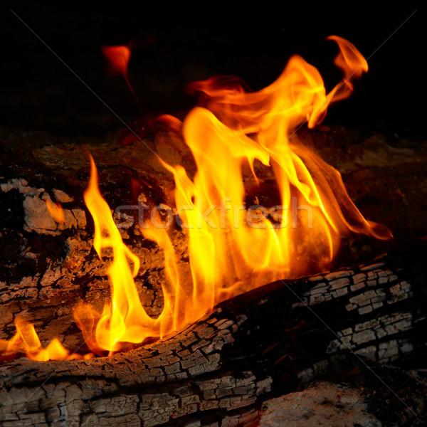 Flamme conseils bois de chauffage texture résumé nature Photo stock © vapi