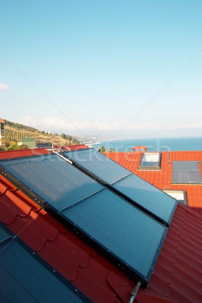 альтернатива энергии Солнечная система дома крыши бизнеса Сток-фото © vapi