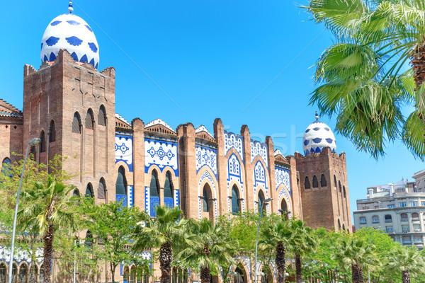 Monumentális Barcelona kilátás utca Spanyolország égbolt Stock fotó © vapi