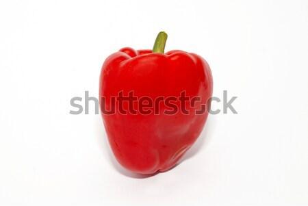 Piros citromsárga piros paprika izolált fehér eszik Stock fotó © vapi