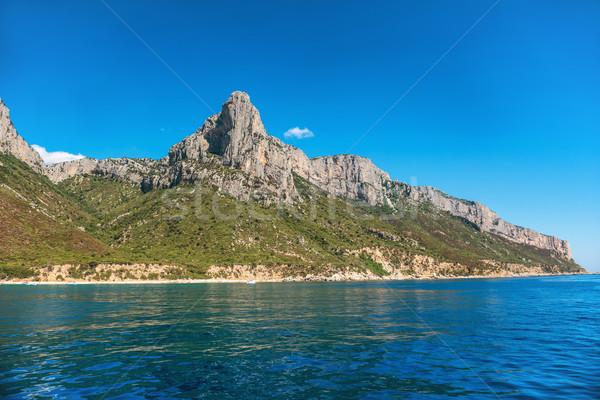 Coast and blue Mediterranean sea Stock photo © vapi