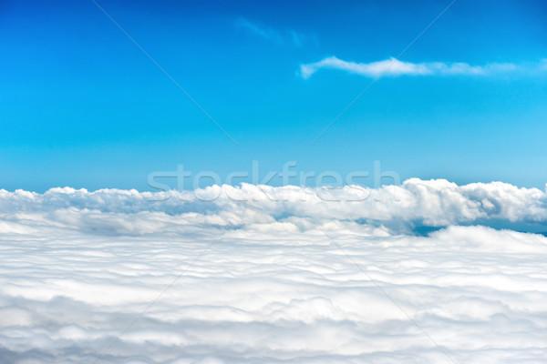 Bianco nubi cielo blu cielo abstract luce Foto d'archivio © vapi
