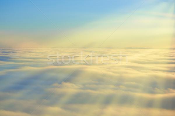 Sky, sunset sun and clouds Stock photo © vapi