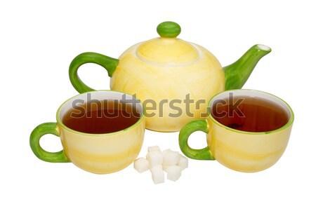 Color China tetera aislado blanco alimentos Foto stock © vapi