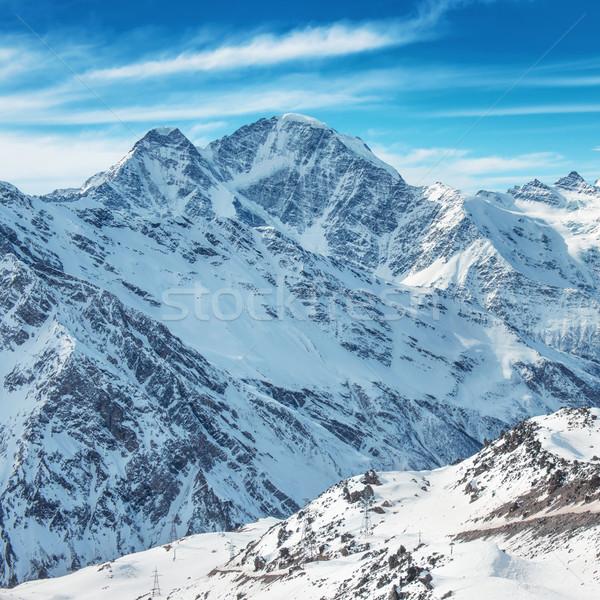 White mountains in snow Stock photo © vapi