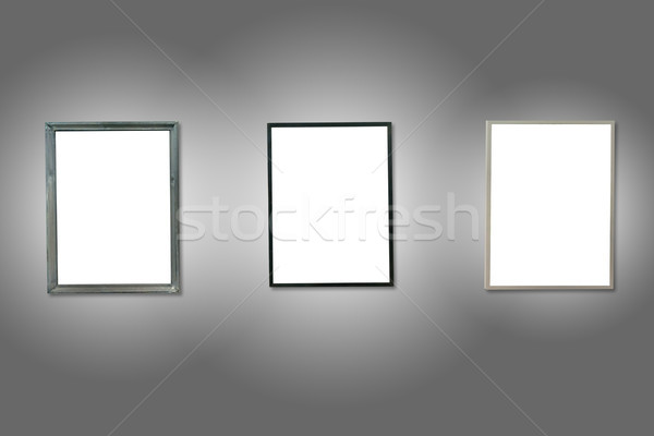 3  白 孤立した 木製 フレーム グレー ストックフォト © vapi
