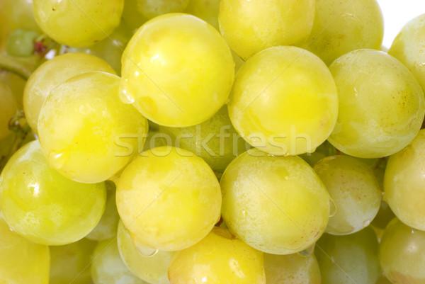 Witte druiven waterdruppels studio macro shot Stockfoto © vapi