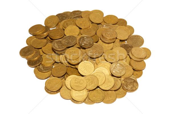 Halom arany érmék izolált fehér pénz Stock fotó © vapi