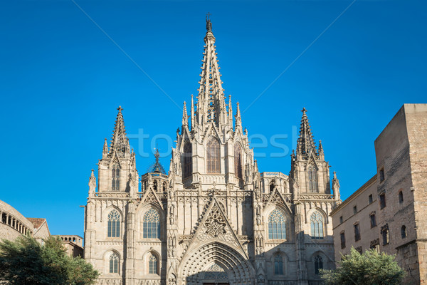 Catedral Barcelona Espanha fachada gótico céu Foto stock © vapi