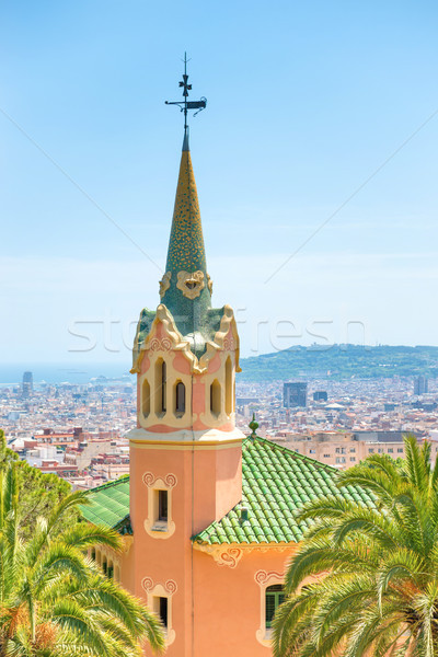 Museo parque Barcelona España cielo casa Foto stock © vapi