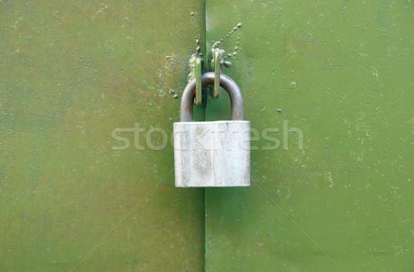Lock on the green door. Stock photo © vapi
