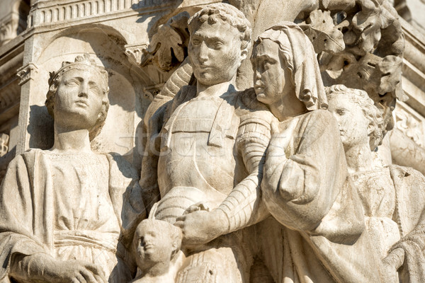 Arquitetura detalhes escultura Veneza Itália mulher Foto stock © vapi