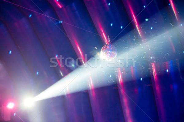 Diszkógömb fény kék buli tánc terv Stock fotó © vapi