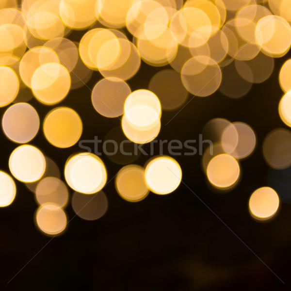 Stockfoto: Oranje · Geel · Blur · vakantie · lichten · kan