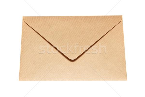 Geschlossen Papier Umschlag isoliert weiß Büro Stock foto © vapi